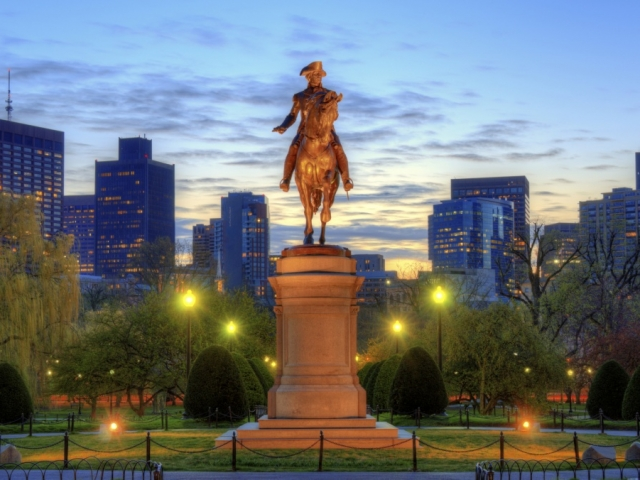 America, Boston, George Washington Statue, Boston Park