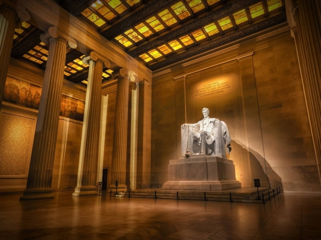 America, Washington DC, Lincoln Memorial