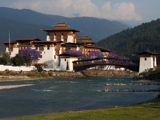 Bhutan, Punakha Valley, Punakha Dzong