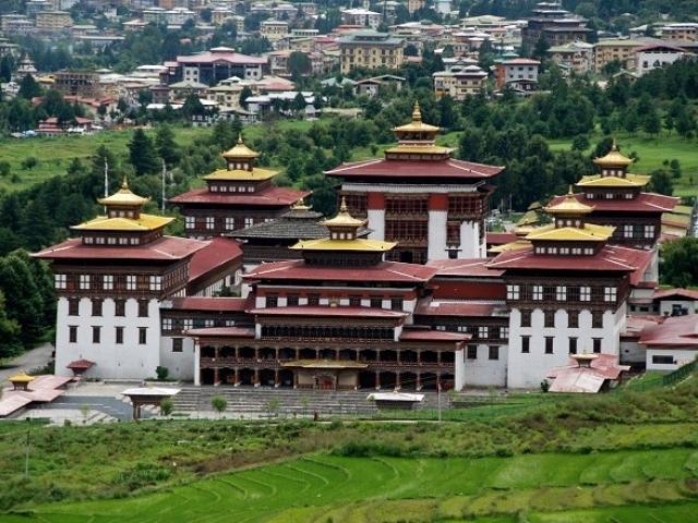 Bhutan, Thimphu, Tashichho Dzong