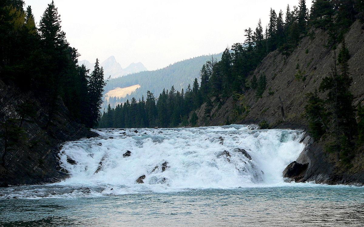 Canada, Banff National Park, Bow Falls