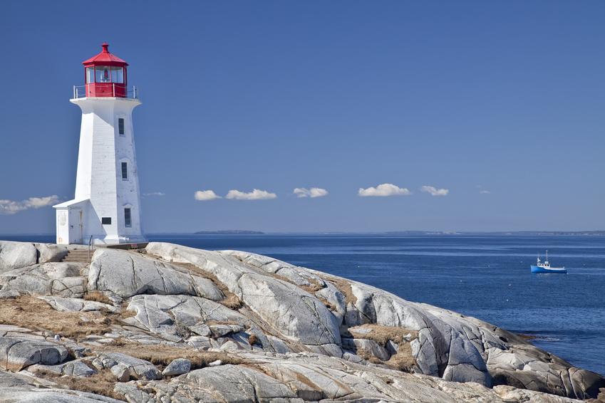 Enchanting Canadian Maritimes | Peggy's Cove Lighthouse, Nova Scotia, Canada