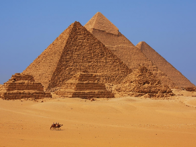 Egypt, Cairo, Great Pyramids of Giza