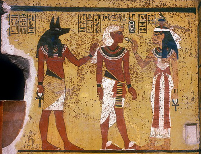 Egypt, Valley of the Kings, King Tut Tomb Painting