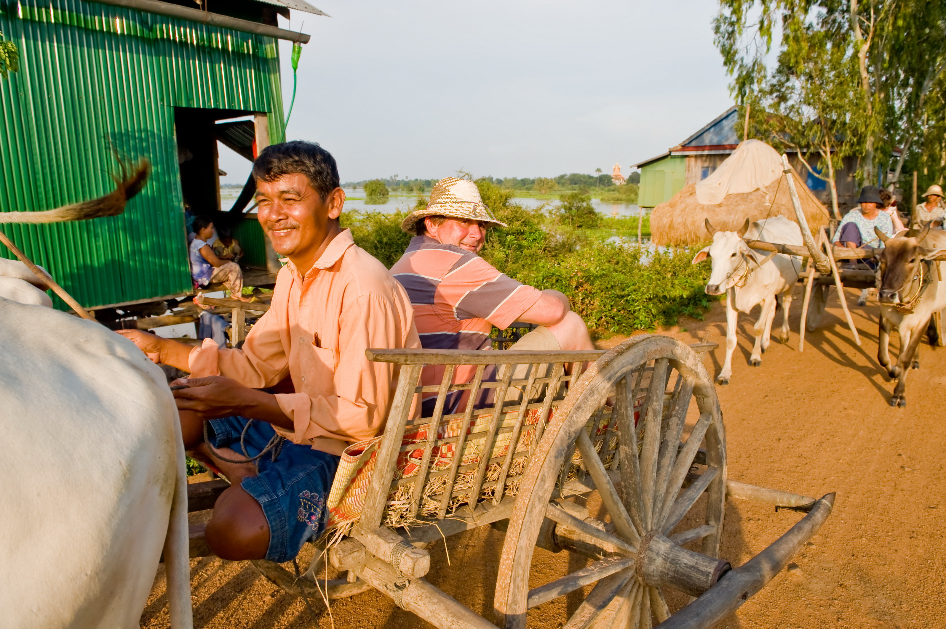Cambodia Excursions, Ox Cart Ride