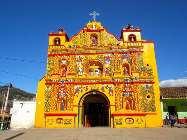 Colorful Guatemala, Quetzaltenango, San Andres Xecul Church