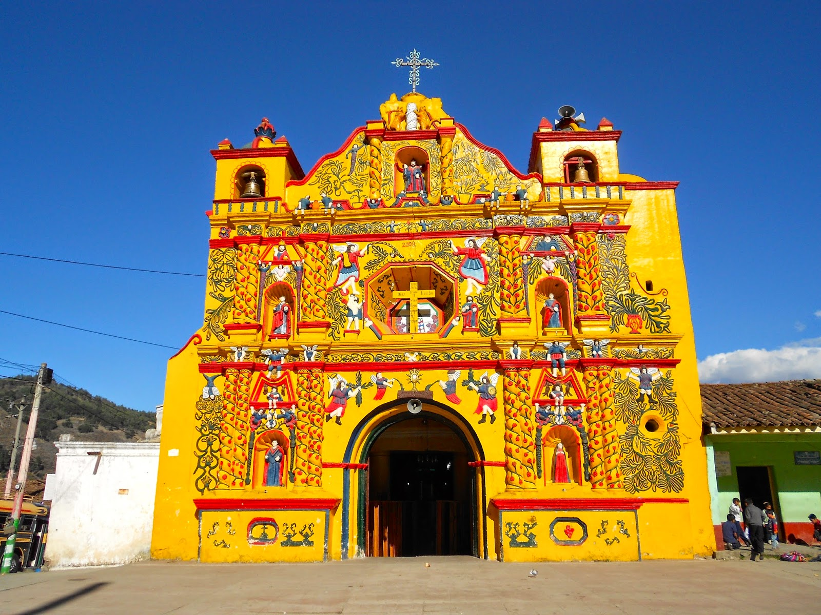 Colorful Guatemala, Quetzaltenango, San Andres Xecul Church