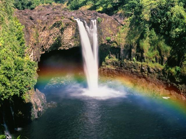 Hawaii, Hilo, Rainbow Falls