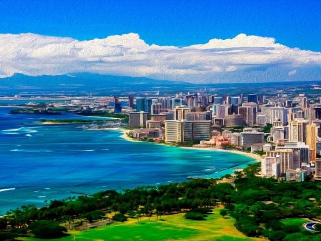 Hawaii, Honolulu, Waikiki Beach