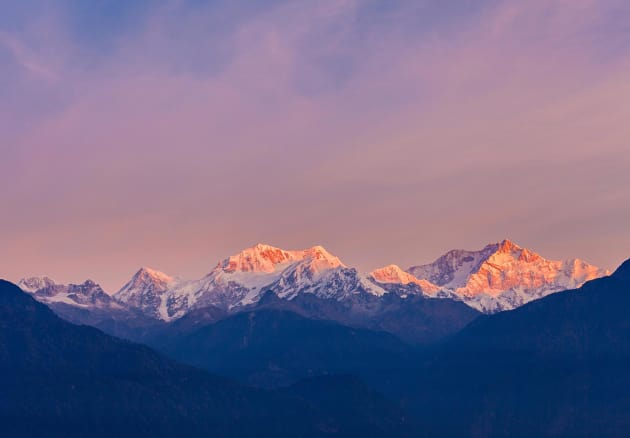 India, Gangtok, Sunrise over Kanchenjunga