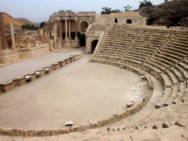 Israel, Caesarea, Roman Theater