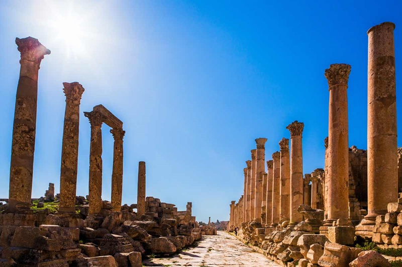 Jordan, Jerash, The Colonnaded Street