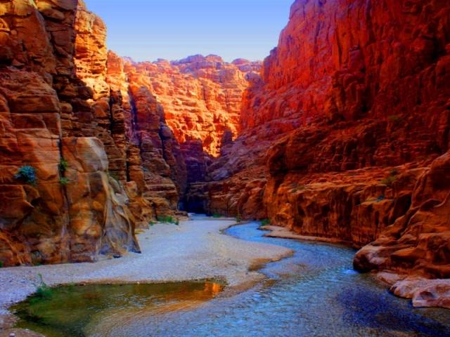 Jordan. Wadi Mujib, Jordanian Grand Canyon