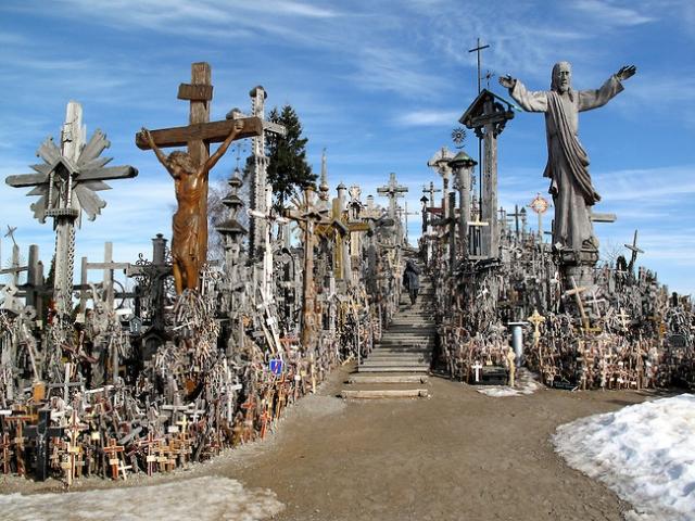 Lithuania, Siauliai, Hill of Crosses