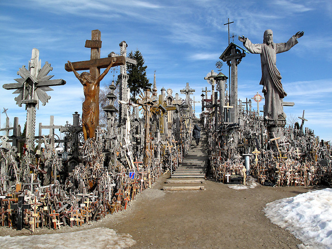 Lithuania, Siauliai, Hill of Crosses