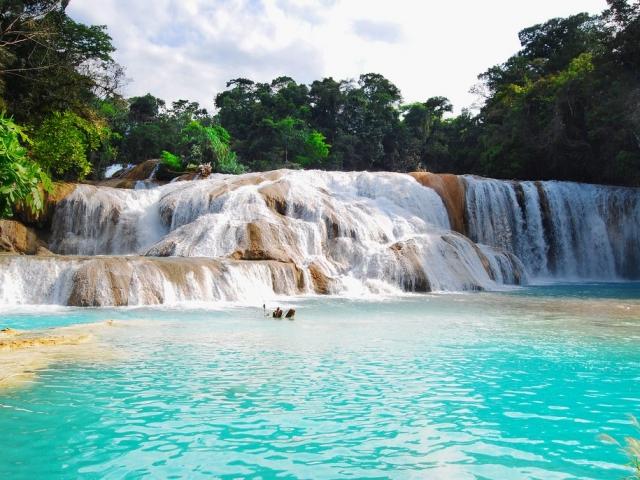 Mexico, Agua Azul waterfalls