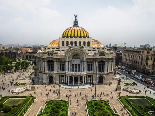 Mexico, Mexico City, Palace of Fine Arts