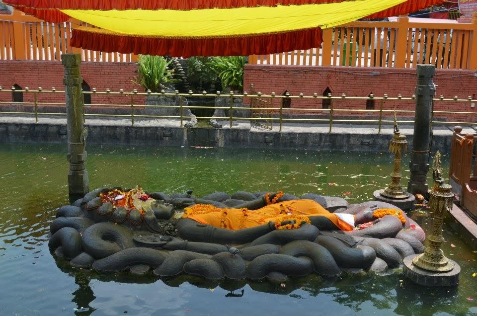 Taste of Nepal - Statue of Lord Vishnu, Budhanilkantha, Nepal