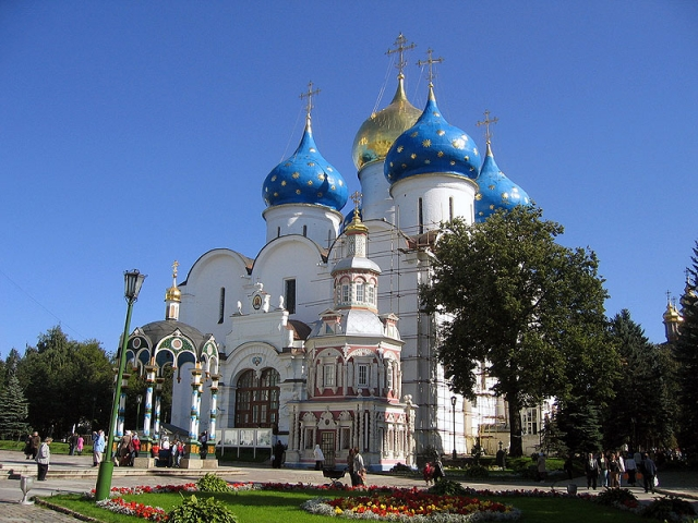 Wonders of St Petersburg & Moscow | Assumption Cathedral, Sergiev Posad, Russia