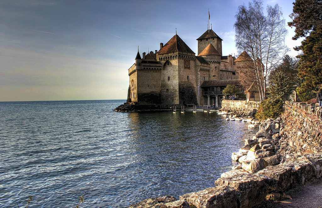 Switzerland, Lake Geneva, Chateau de Chillon