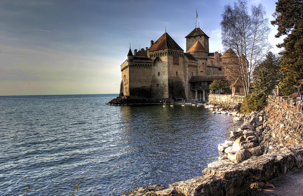 Switzerland, Lake Geneva, Chateau de Chillon