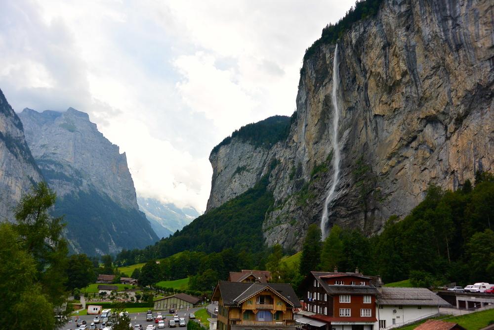 Switzerland, Lauterbrunnen, Staubbach Falls