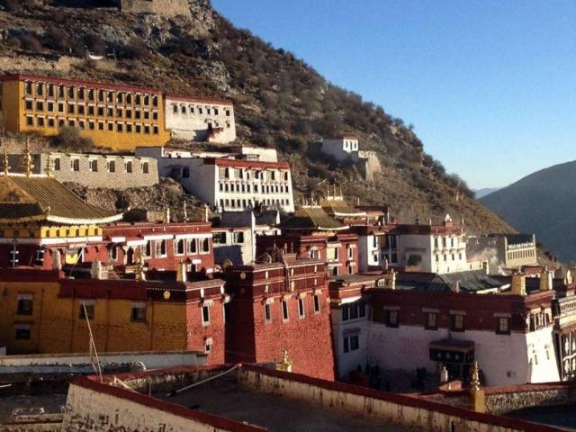 Tibet, Lhasa, Ganden Monastery
