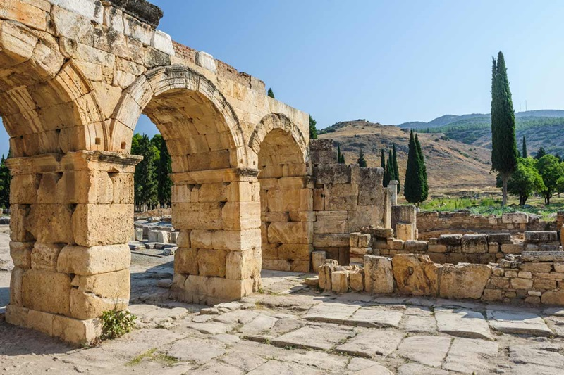 Turkey, Hierapolis, Ancient ruins of the Roman Health Spa