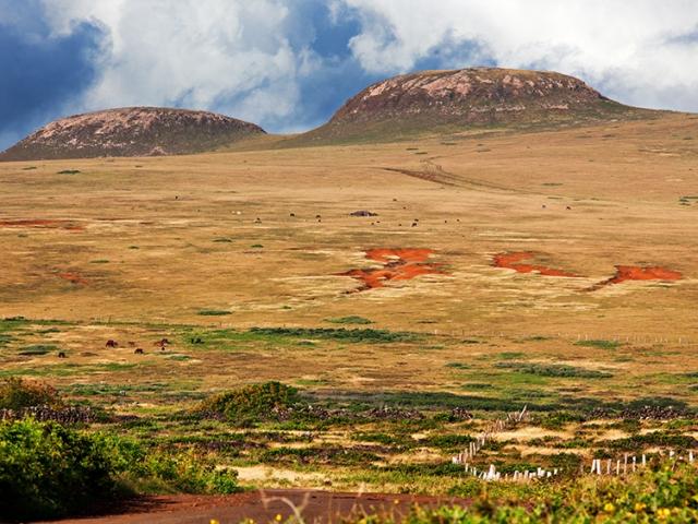 Chile, Easter Island, Terevaka volcano
