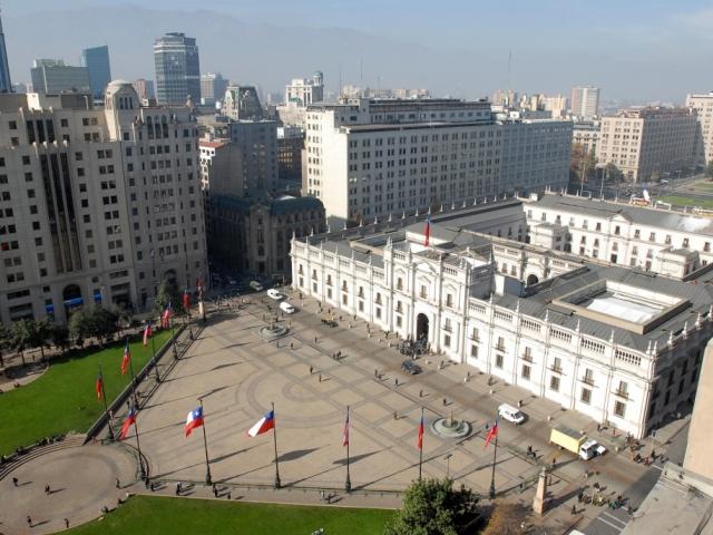 Chile. Santiago, La Moneda Palace