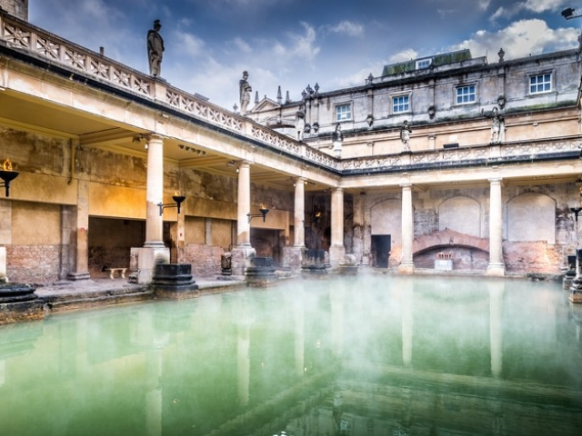 England, Bath, Roman Baths