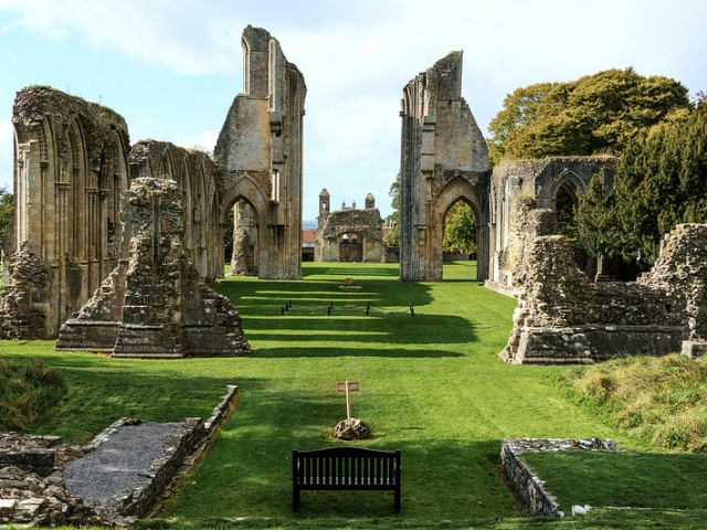 Britain & Ireland Panorama | Glastonbury Abbey, Glastonbury, England UK