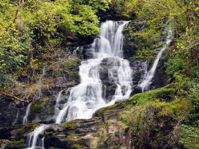 Ireland, Killarney, Torc Waterfall