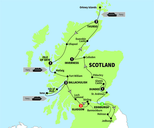 Scotland, Scotland's Highlands, Islands & Cities