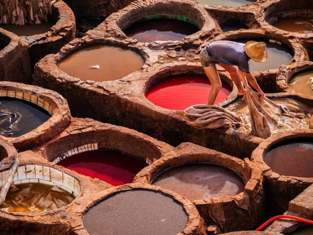 Best of Morocco, Fez, Round dye-pits