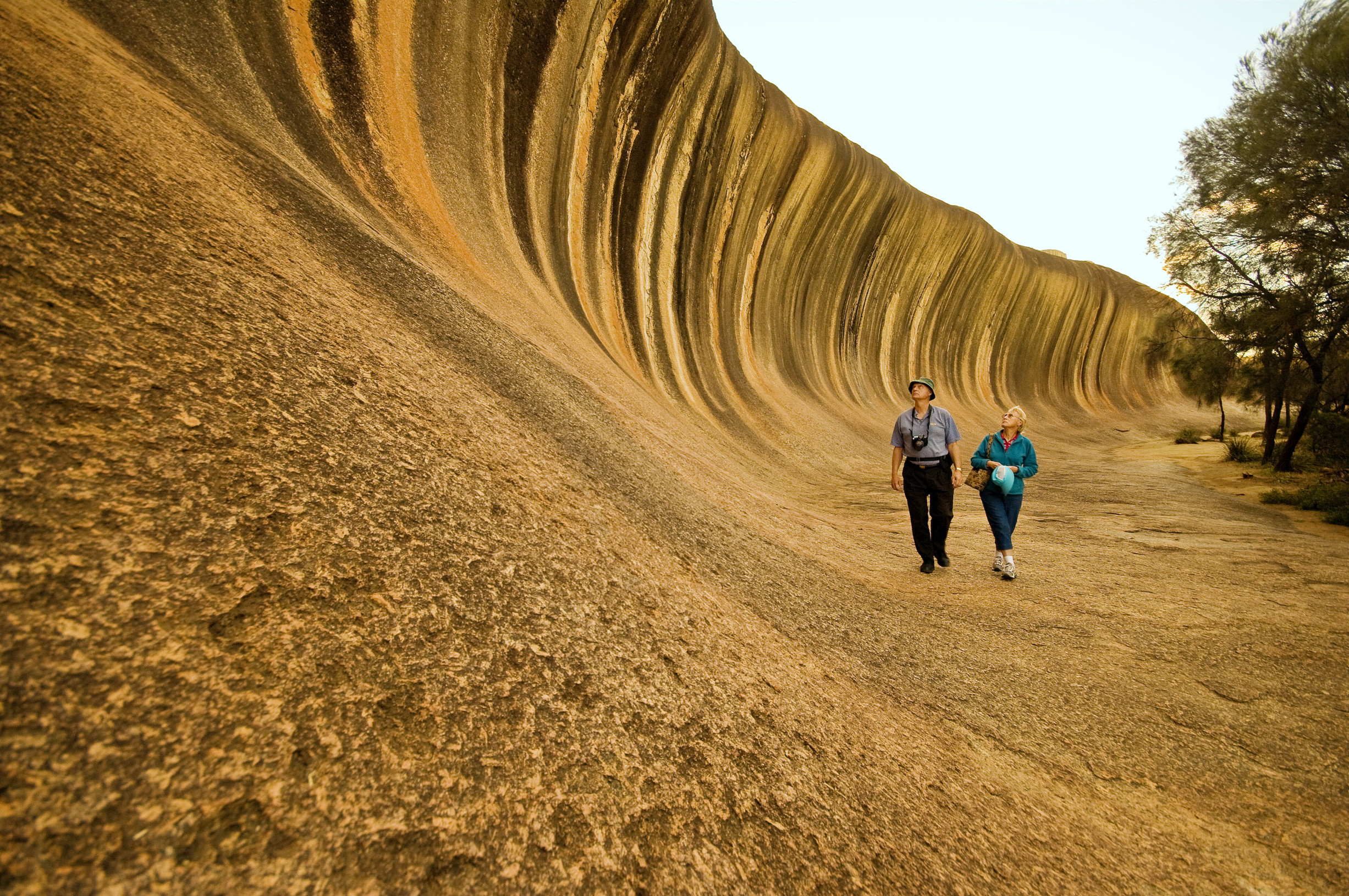 Wave Rock, York, Wildflowers & Aboriginal Experience | Couple at Wave Rock