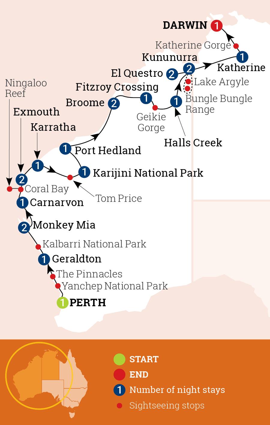 Wonders of the West Coast & Kimberley
