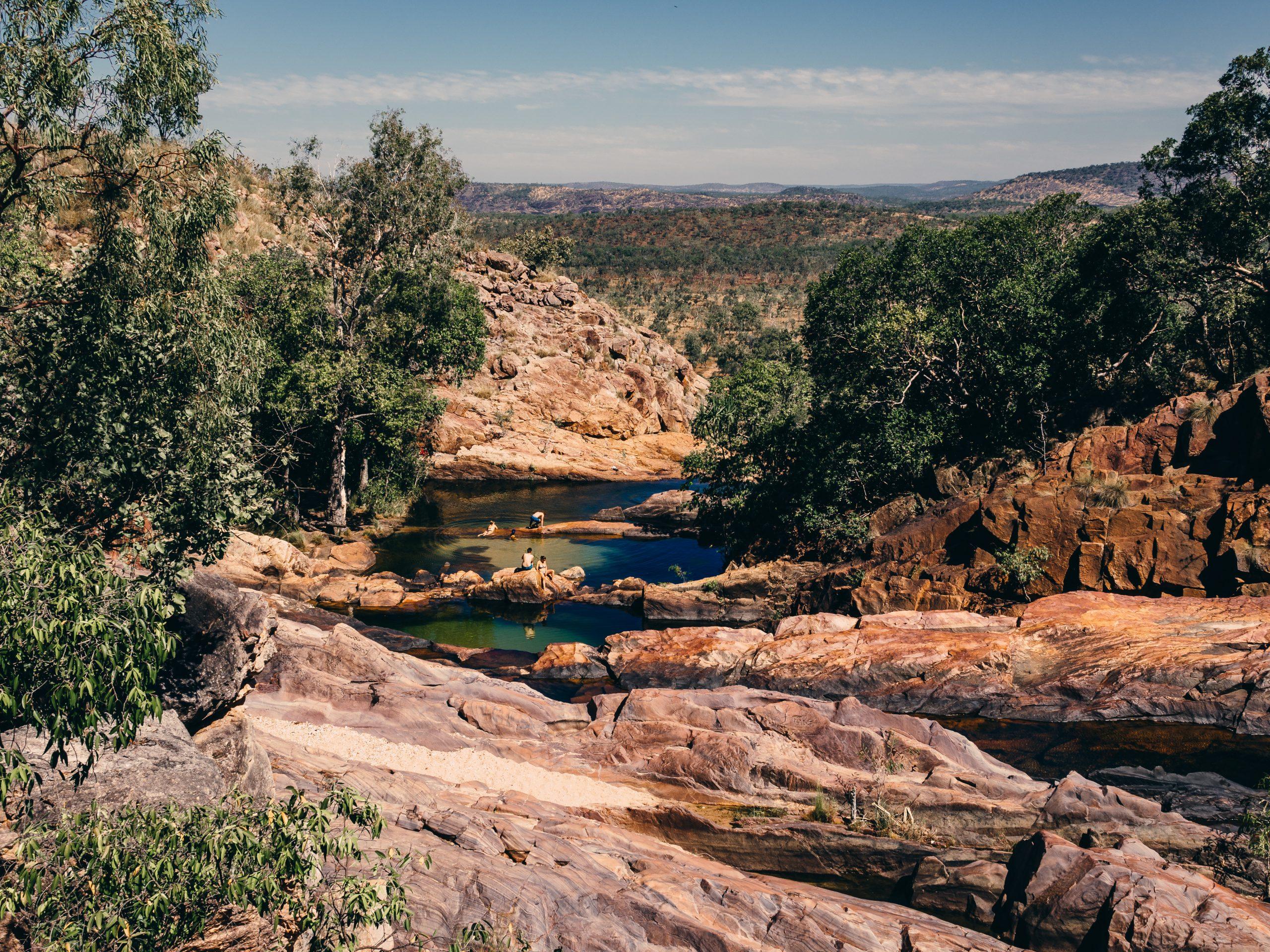 Kakadu, Arnhem Land & Gunlom Falls Adventure | Nature's infinity pool at Gunlom, Kakadu National Park, Northern Territory