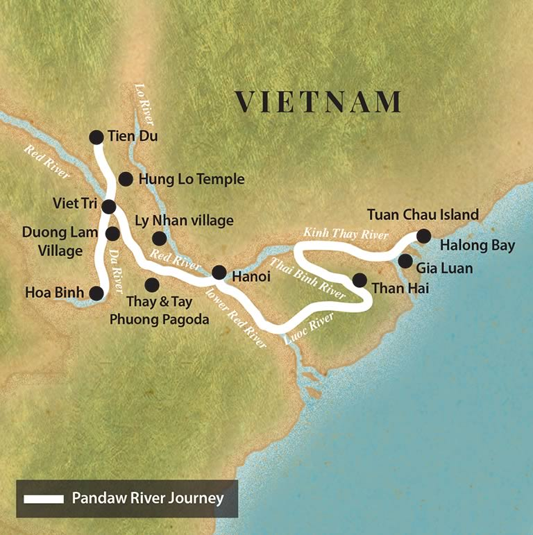 Pandaw Cruise – Halong Bay and Red River (April to November)