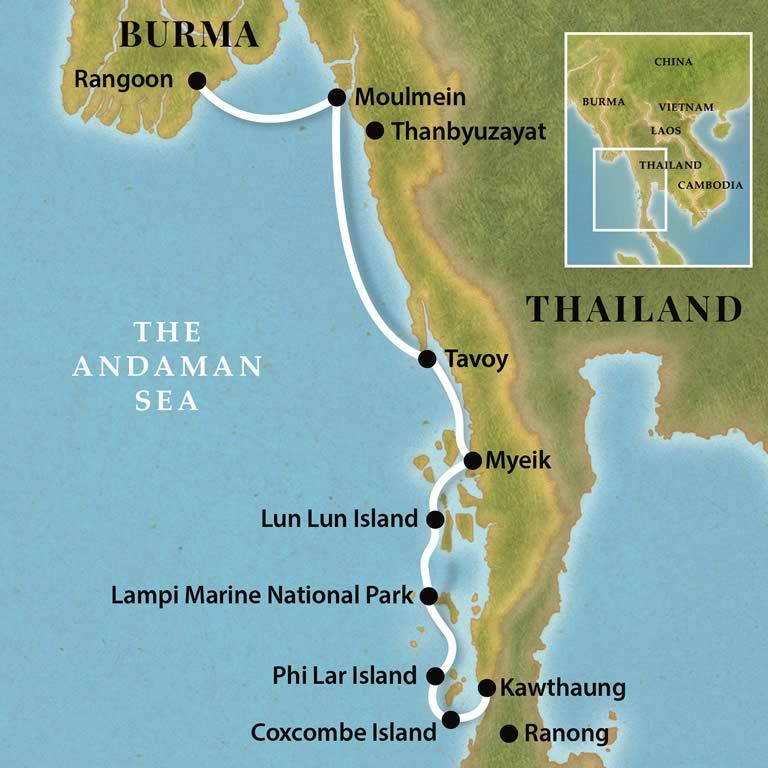 Pandaw Cruise - Burma Coastal Voyage