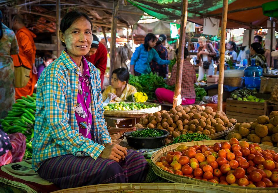 Flavours of Burma, Bagan, Nyaung Oo market