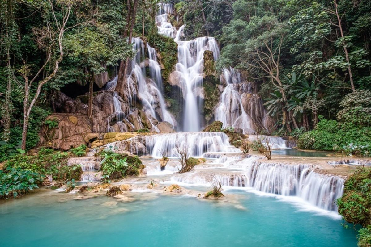 Vietnam & Laos Explorer, Luang Prabang, Kuang Si Falls