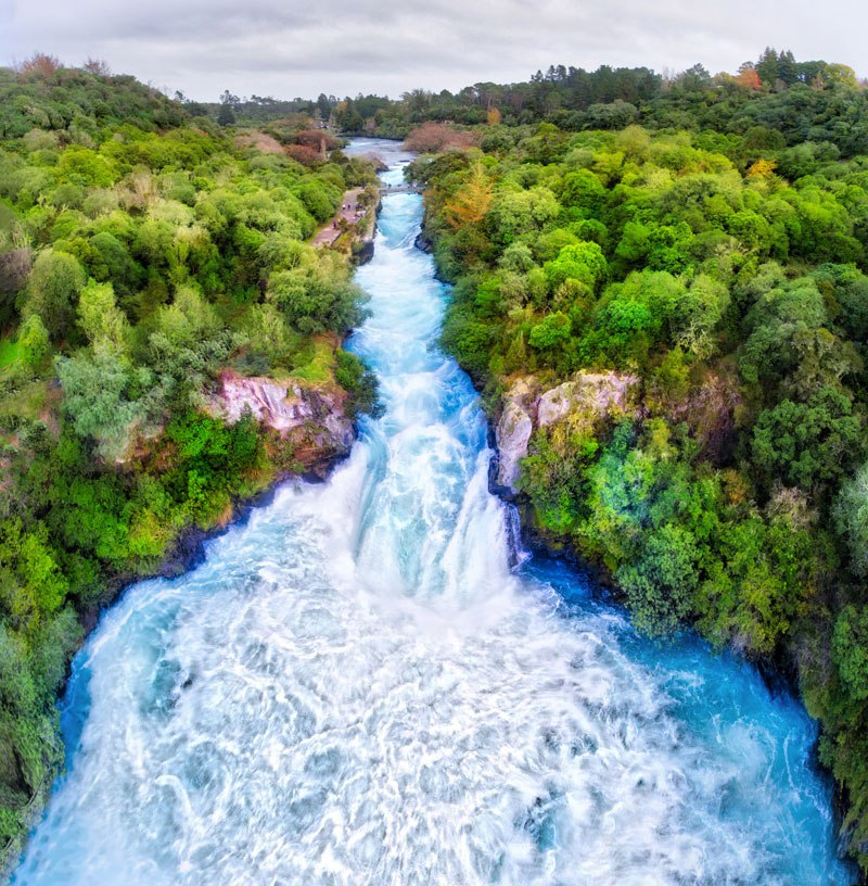 The Endless Shores | Huka Falls, Lake Taupo, New Zealand