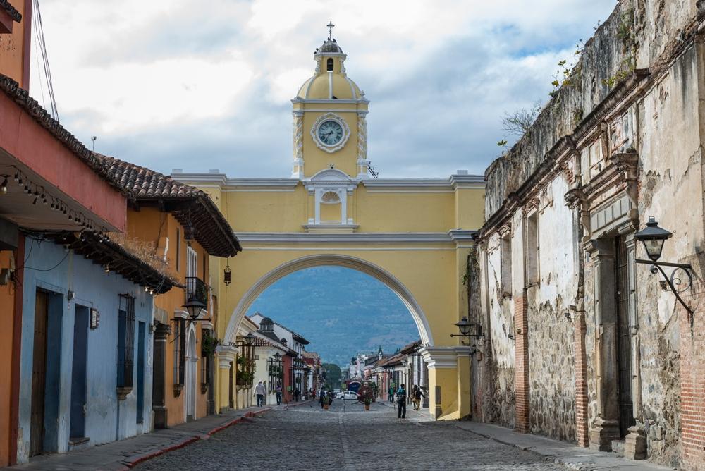 Basic Guatemala, Santa Catalina Arch tower, Antigua