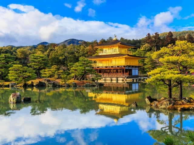 Treasures of Japan | Kyoto, Kinkaku-ji Temple (Golden Pavilion)