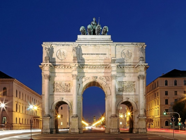 German Vista, Bavarian Arch of Triumph, Munich, Germany