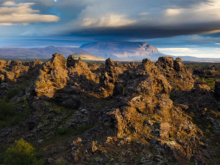 Idylic Iceland, Dimmuborgir Lava Fields, Iceland