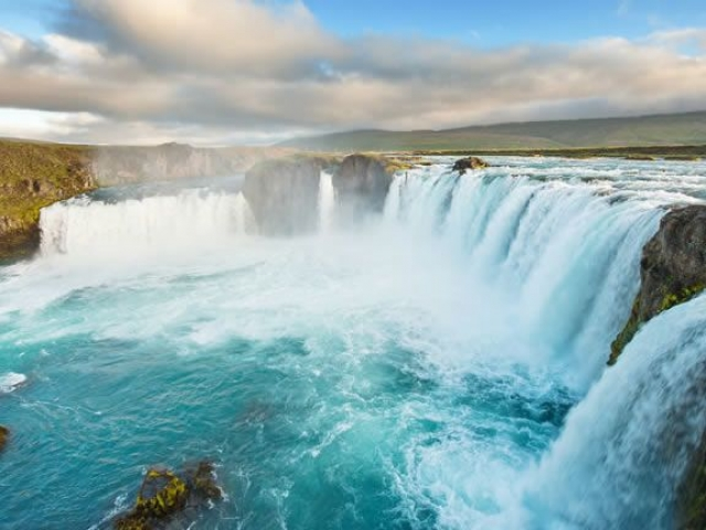 Natural Wonders of Iceland, Godafoss Waterfall, Iceland