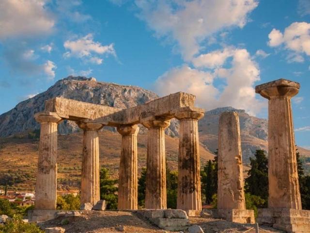 Best of Greece, Ruins of Appollo Temple, Corinth, Greece