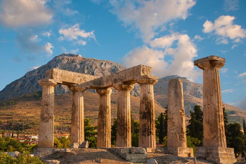 Best of Greece, Ruins of Appollo Temple, Corinth, Greece